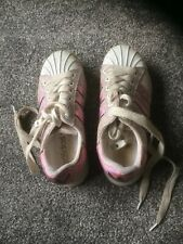 Girls Shoes Size UK 1 In Pink/White By Adidas With Light Up Soles