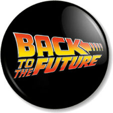 "BACK TO THE FUTURE 1"" Pin Button Badge 1980s Marty McFly Michael J Fox Deloreon"