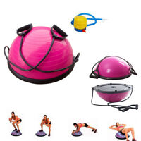 "23"" Yoga Half Ball Balance Trainer Fitness Strength Exercise Gym w/Pump Blue New"