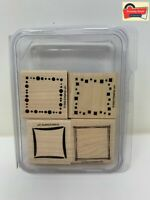 """Stampin' Up! """"Around And About"""" Wood UnMounted Rubber Stamp Set 2003 Retired"""