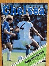 Chelsea v Newcastle United 1980/81 programme