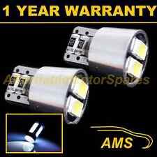 2x W5W T10 501 Errore Canbus libero BIANCO 4 LED Numero Targa Lampadine np101902