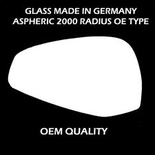 Audi A4 Wing Mirror Glass, Convex, Left Hand Side, Fits Reg 2016 to 2016