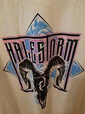 NEW Halestorm Rock Band Logo shirt white tshirt men's Size Lg