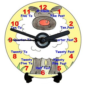 DIY CD Teaching Clock Kit Sheep Learn how to tell the time has Numbers and Words