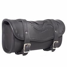 """Motorcycle 12"""" PV Leather Fork Tool Bag - TB-FLAME-12"""