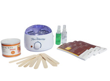 Depilatory Wax Kit Heater Wax Pot, Strips Hair Removal Pre Post Treatment