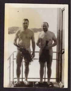 Old Soviet Vtg Photo Shirtless Naked Athlete Handsome Young Men Sauna