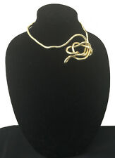 BENDABLE SNAKE CHAIN FLEXIBLE TWIST NECKLACE - SHINY GOLDTONE