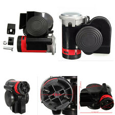 Electric Dual Tone Compact Air Horn Kit 12V 139DB for Car Truck SUV Motorcycle