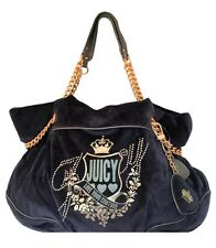 NWT Juicy Couture Duchess Love Your Couture Chain Satchel Blue Hobo Handbag $228