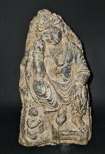 CIRCA NEAR EASTERN THINKING BUDDHA GANDHARA STONE PLAQUE