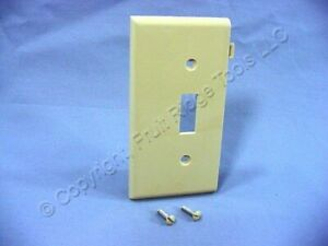 New Leviton Ivory Toggle Switch Sectional End UNBREAKABLE Wallplate Cover PSE1-I