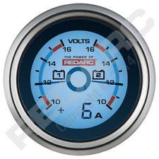NEW Redarc Dual Voltage 52mm Gauge with optional current display G52-VVA