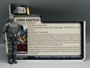 Vintage 1984 Hasbro GI Joe FIREFLY Figure COMPLETE w/ Filecard ARAH Cobra G.I. !