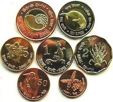 Andaman Nicobar Islands 2011 Animal Set of 7 Coins, UNC