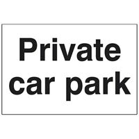 Private Car Park PVC Sign High Quality 300 x 200 x 3mm