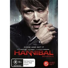 HANNIBAL-Season 3-Region 4-New AND Sealed- 5 DVD Set-TV Series