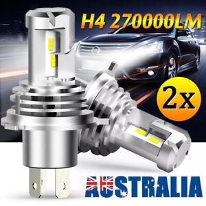 2x H4 9003 1800W 270000LM LED Headlight Globes kit Conversion Bulbs Hi/ Low Beam
