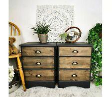 2 X Industrial bedside tables / drawers (pair) - Rustic / Vintage / Retro / Boho