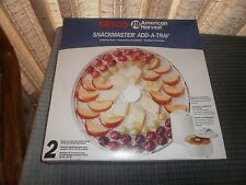 Nesco Snackmaster Food Dehydrator Add-A-Tray Lt-2W New in Box