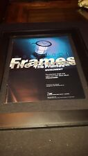 The Frames Monument Rare Original Radio Promo Poster Ad Framed!