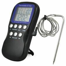 Reino Unido alimentos termómetro de horno Temporizador Digital Reloj Cocina Sonda Temperatura Hogar 2020
