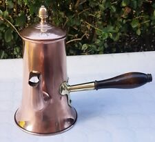 Antique Victorian copper coffee chocolate pot tin lined