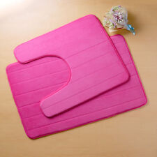 1/ 2PCS Non-Slip Bathroom Rug Mat Memory Foam Contour Floor Rug Carpet Pad Sets