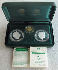 2000 Australia Olympic coin set of 3 / $5 - $100 dollars gold silver Sydney