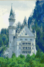 "Castle Neuschwanstein Bavaria, Germany - Cross Stitch Kit 8"" x 12"" - 16 Count"
