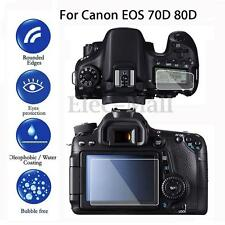 2x Tempered Glass LCD Screen Protector Film Cover For Canon EOS 70D 80D Camera