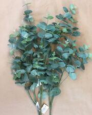 Artificial Faux Greenery 3 X Green Long Stem Eucalyptus Stems Leaves