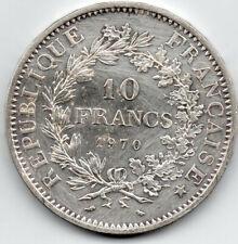 More details for france 1970 10 francs hercules group .900 silver  uk seller free postage crown