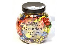 Personalised mini cookie Sweet Jar with choice of sweets for all occasions