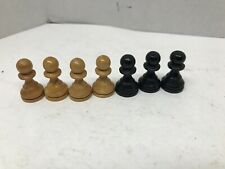 VTG Wooden Chess Palms Replacement Piece Non-weight France Pieces Natural/Black