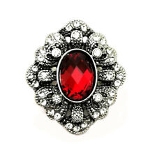 3D Crystal Heart Chunk Charm Snap Button Fit For Noosa Necklace/Bracelet  NSKZ5