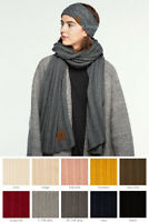 ScarvesMe C.C Women Solid Color Wide Ribbed Knit Warm Oblong Long Scarf