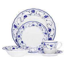 NEW  NORITAKE Rhapsody Blue 20pce Dinner Set