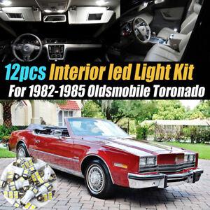12Pc Super White Car Interior LED Light Kit for 1982-1985 Oldsmobile Toronado