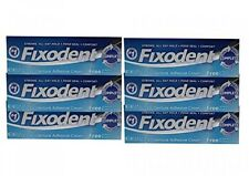 Fixodent Complete Free Denture Adhesive Cream, Travel Size, 0.75 Oz (Pack of 6)