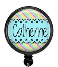 Personalized Your Name Whimsical Id Badge Reel Retractable Work Id Holder