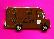 2000 SYDNEY OLYMPIC UPS TRUCK PIN BROWN PACKAGE TRUCK PIN FULL SIZE