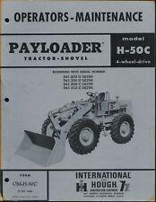 International Amp Hough Model H 50c Payloader Operators Maintenance Manual 4wd