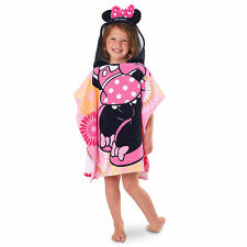NEW Princess Minnie Mouse Pink Clubhouse Poncho Hooded Beach Towel Disney Store
