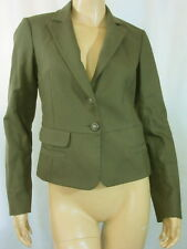 NWT $750 LBK LOU BAROK Olive Green Chic Tailored Lace Up Jacket 38 4 France