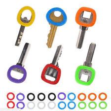 32PCS  Silcone Mix Rubber Soft Key Locks Key Cap Covers Hollow Topper Keyring