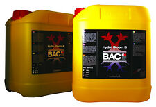 BAC B.A.C HYDRO BLOOM AB 2x5 LITRES TOP FLOWER NUTRIENTS HOLLAND No1 IN EUROPE