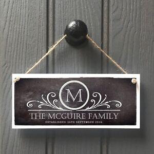 Handmade Family Name Plaque Sign Housewarming New Home Gift Handmade