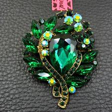 Betsey Johnson Jewelry Enamel Lovely Green Flower Charm Woman Brooch Pin